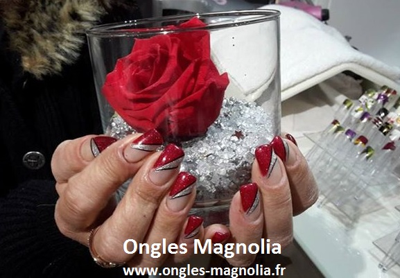 ongles magnolia pose de gel french fantaisie bicolore. Black Bedroom Furniture Sets. Home Design Ideas