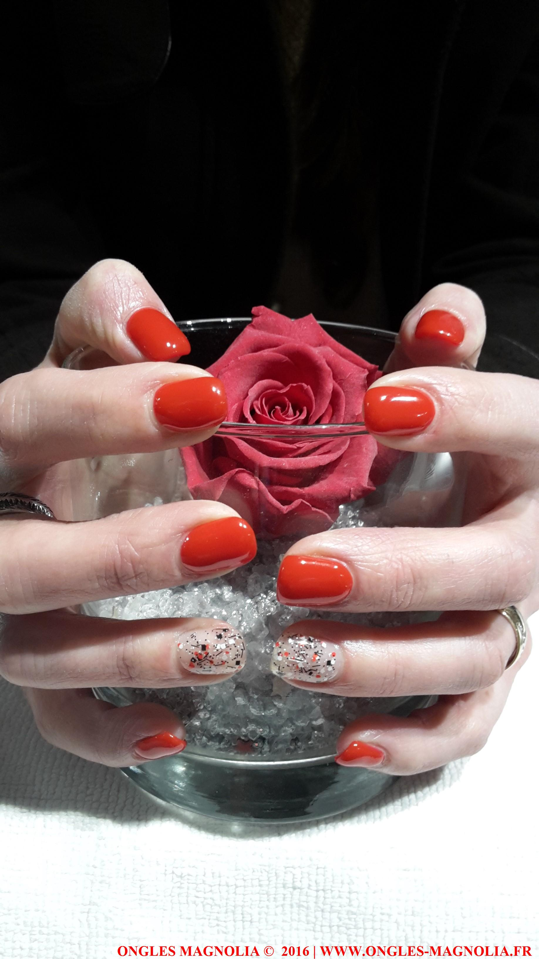 pose de faux ongles en gel Neuville sur saone lyon Ongles Magnolia